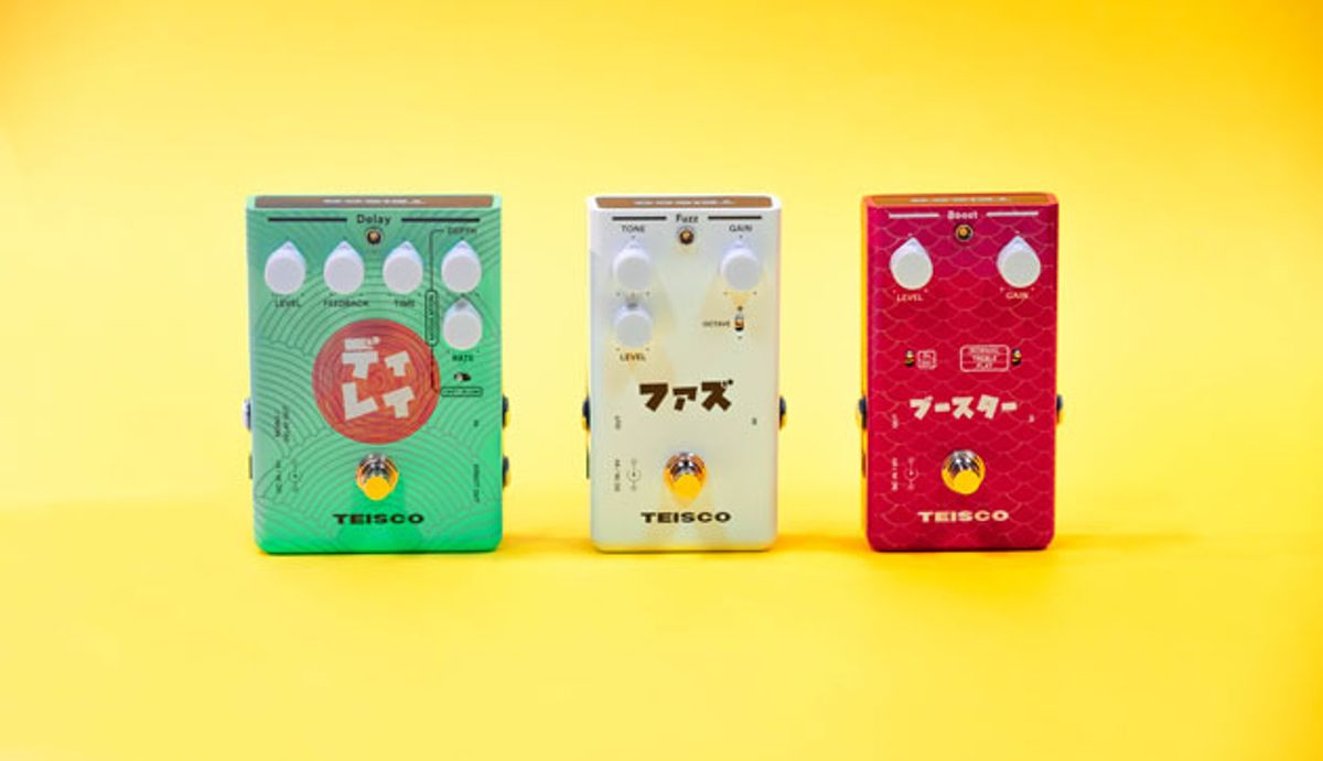 Teisco Launches New Delay, Fuzz, and Boost Pedals