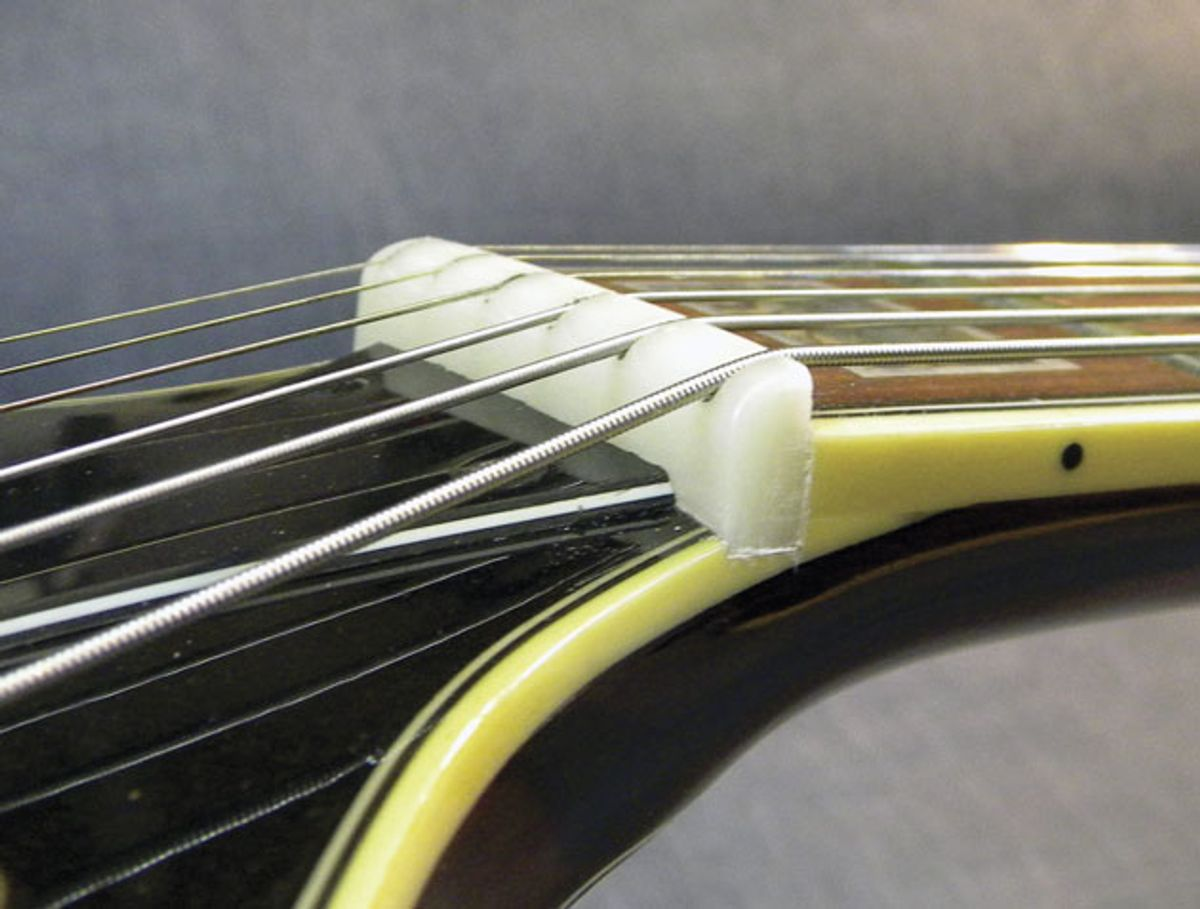 Guitar Shop 101: Touch-up a String Nut with Super Glue