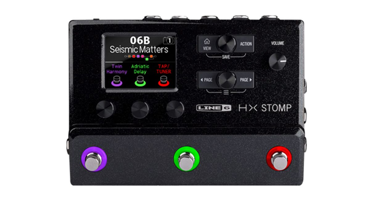 Line 6 Introduces the HX Stomp Guitar Pedal