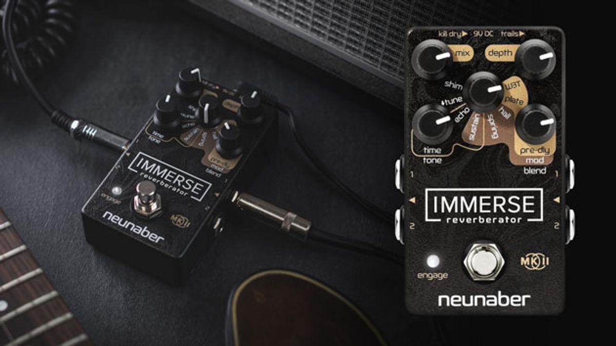 Neunaber Audio Unveils the Immerse Mk II Reverberator Pedal