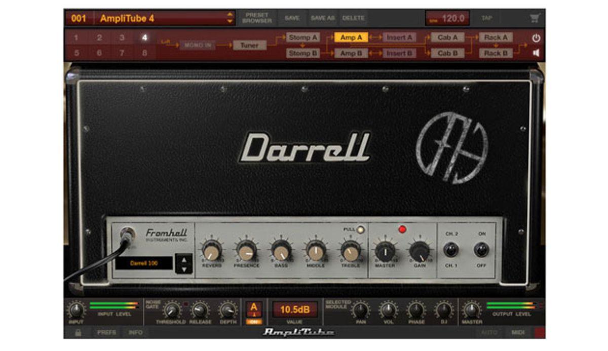 IK Multimedia Introduces Dimebag Darrell CFH Collection for AmpliTube