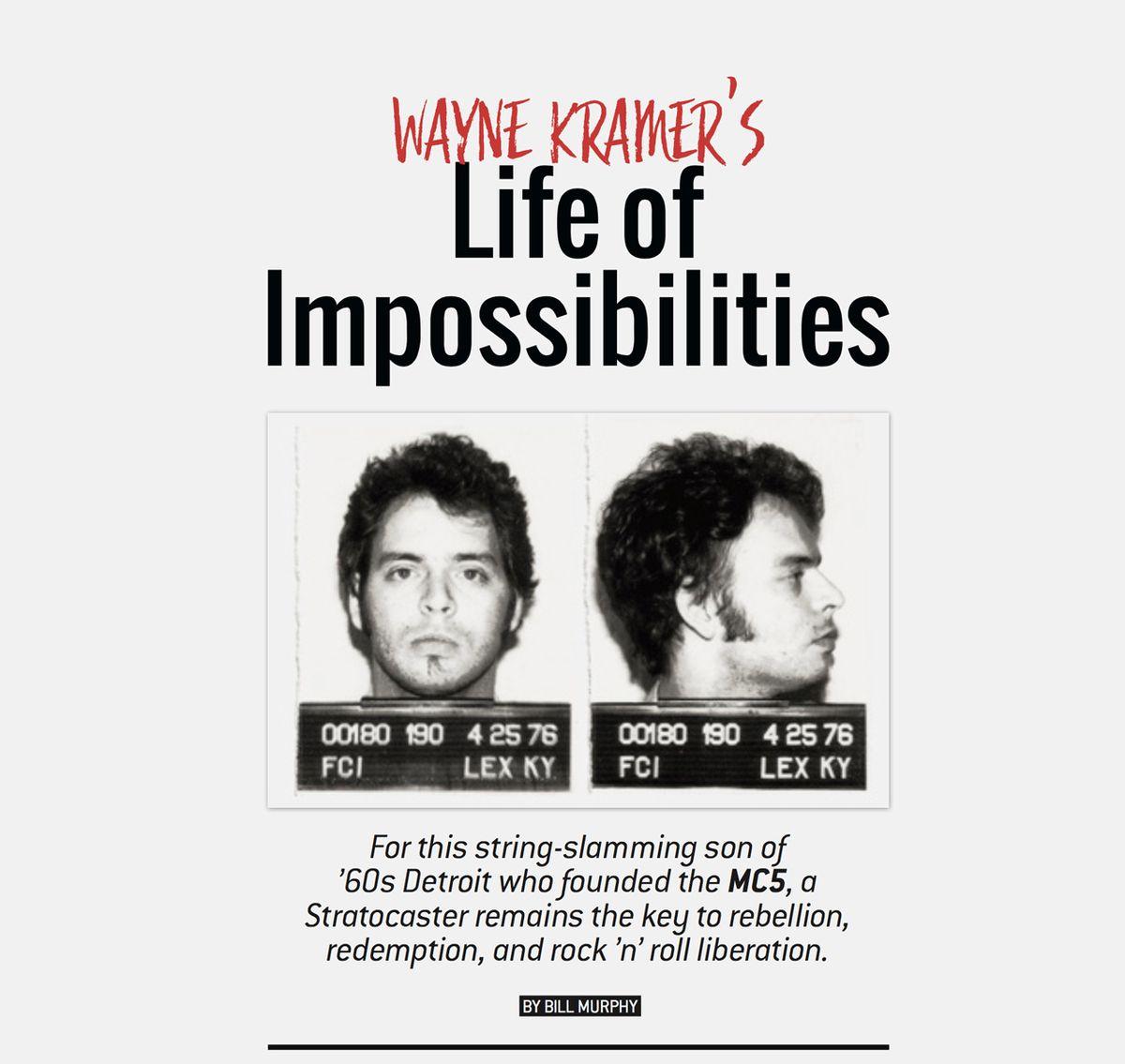 Wayne Kramer's Impossible Life in Rock