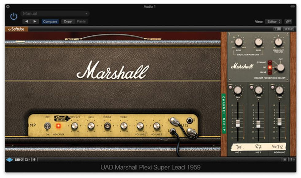 quick hit uad marshall plexi super lead 1959 amp simulator premier guitar. Black Bedroom Furniture Sets. Home Design Ideas