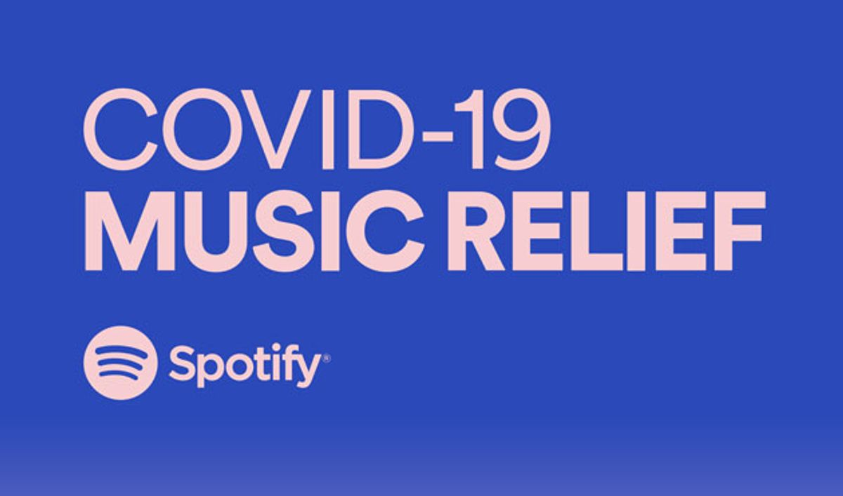 Spotify Announces the COVID-19 Music Relief Project