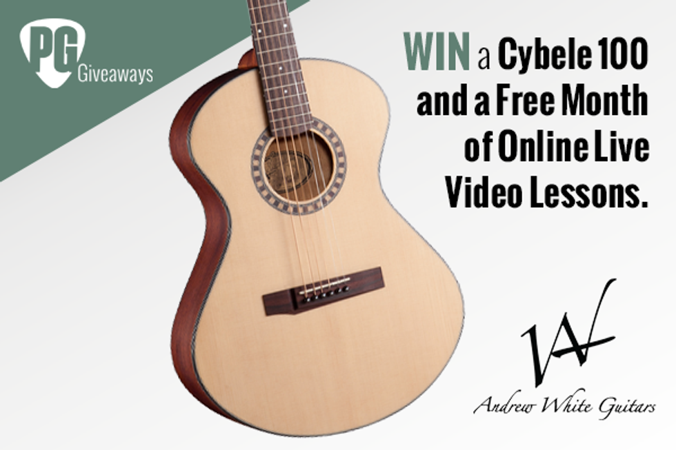 PG Giveaways: Andrew White Guitars Cybele 100 & Free Month of Live Video Lessons