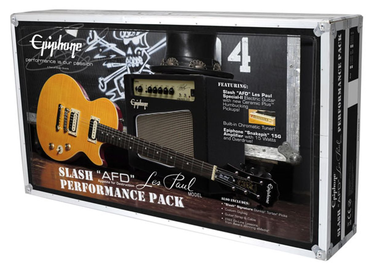 Epiphone Releases the Slash AFD Les Paul Performance Pack