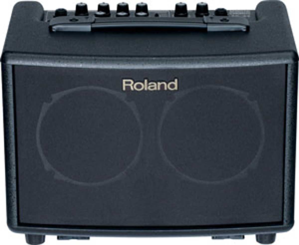 Roland Announces First Battery Powered Acoustic Amp, the AC-33