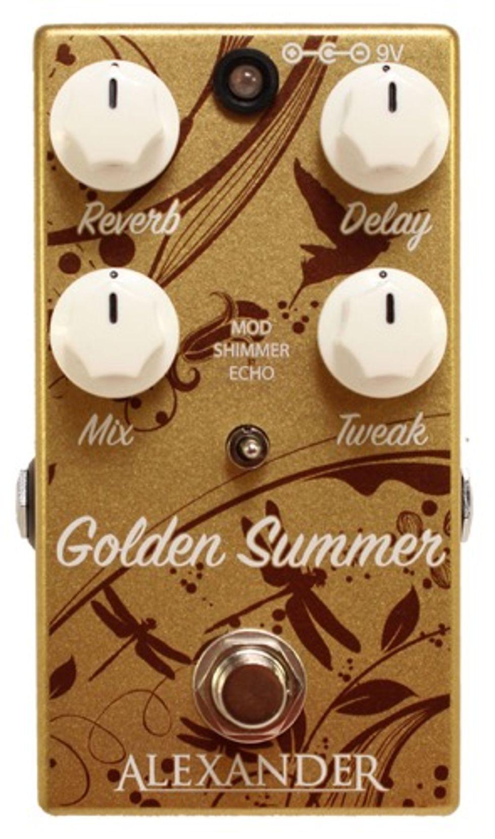 alexander pedals unveils the golden summer ambient reverberator premier guitar. Black Bedroom Furniture Sets. Home Design Ideas