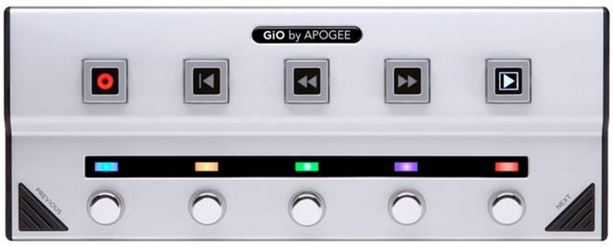 Apogee GiO USB Guitar Interface & Controller Review