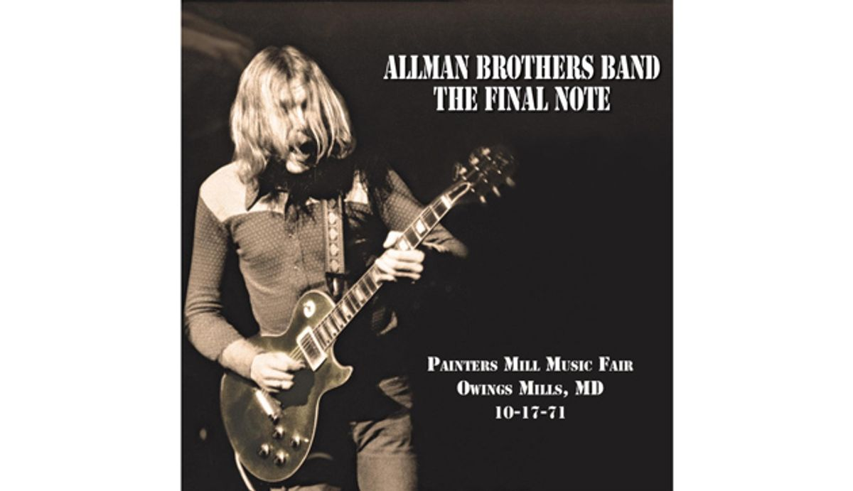 Duane Allman's Last Show Unearthed and Will Be Released as The Final Note