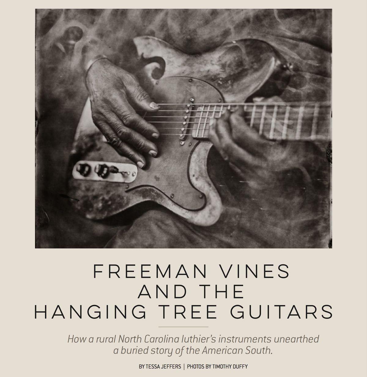 Freeman Vines and the Hanging Tree Guitars