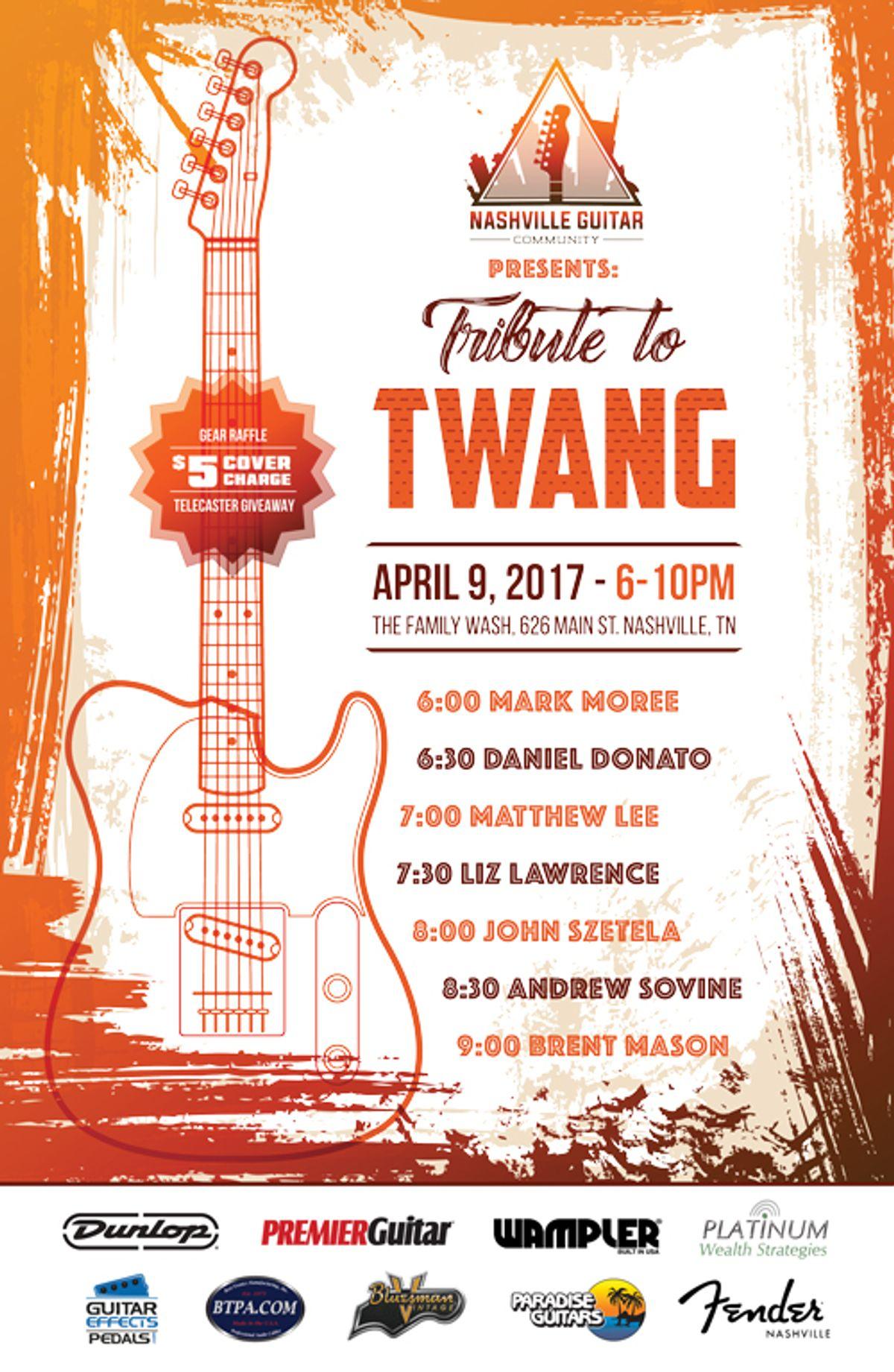 Nashville Guitar Community Presents Tribute to Twang
