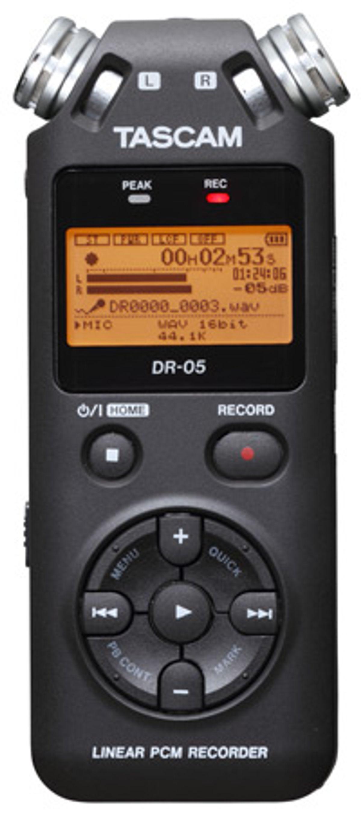 TASCAM Releases DR-05 Recorder