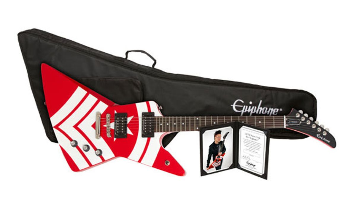 Epiphone Introduces the Limited-Edition Jason Hook M-4 Explorer Outfit