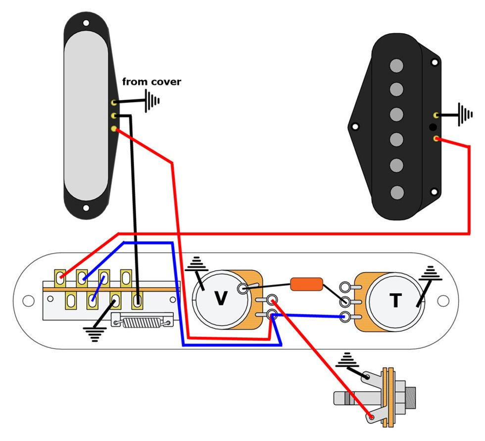 2 way switch wiring diagram fig 1 two mod garage lean  mean series wiring for telecasters premier guitar  mod garage lean  mean series wiring