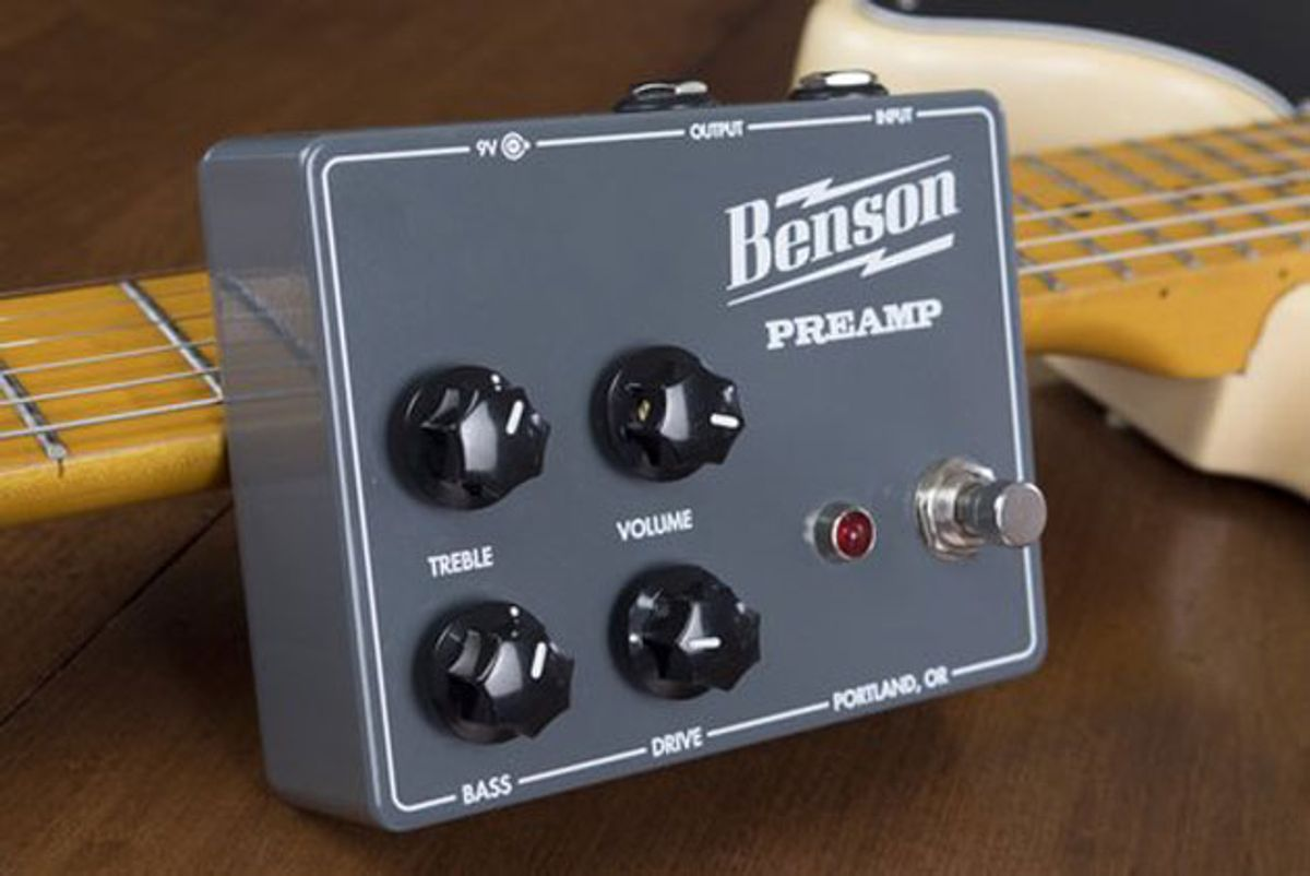 Benson Amps Releases the Benson Preamp Pedal