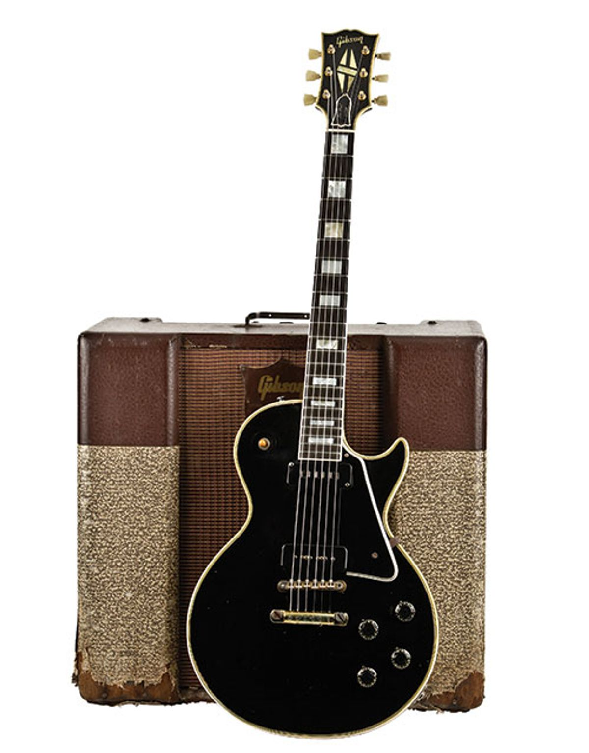 1955 Gibson Les Paul Custom and 1956 Gibson GA-70