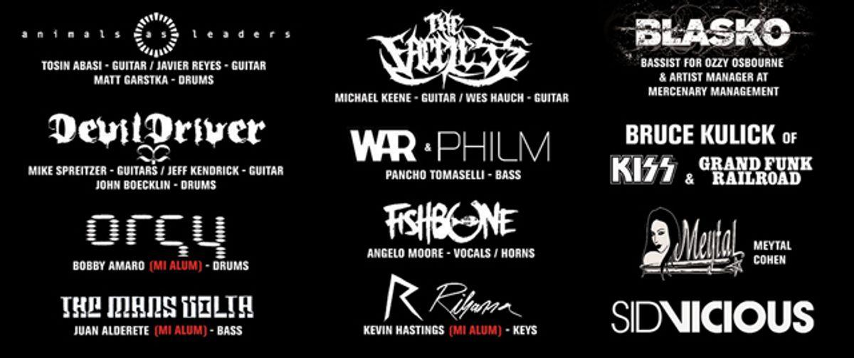 Musicians Institute Announces Artists for Summer Shot 2013