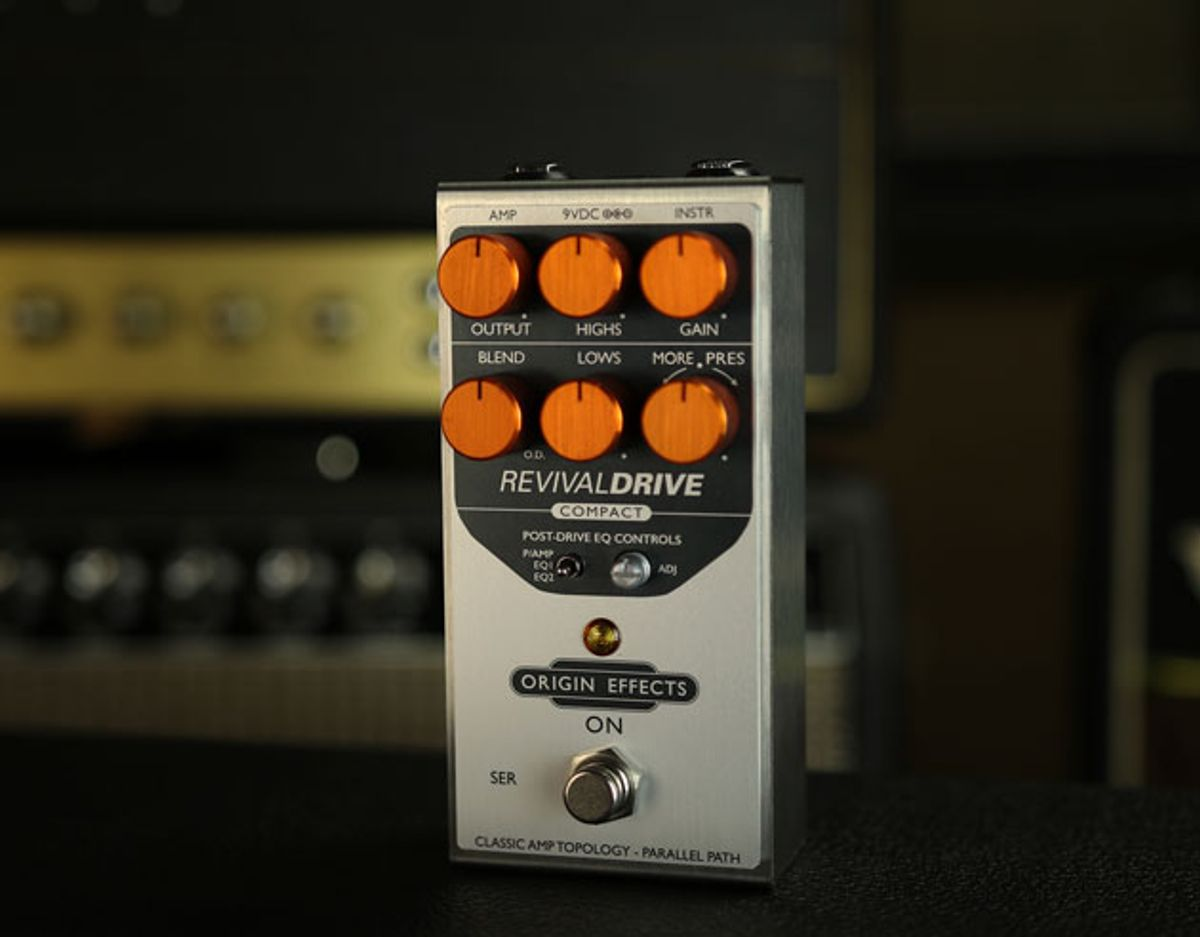 Origin Effects Launches the RevivalDRIVE Compact