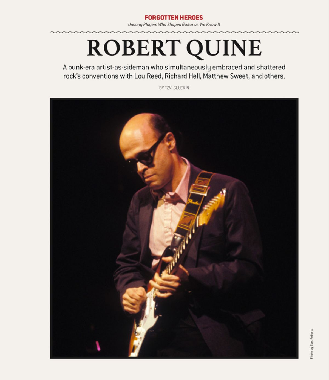 Forgotten Heroes: Robert Quine
