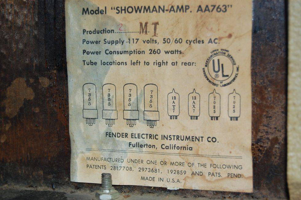Ask Amp Man A Vintage Showman Not Ready For Prime Time Premier Fender Twin Power Cord Wire Diagram Photo 5