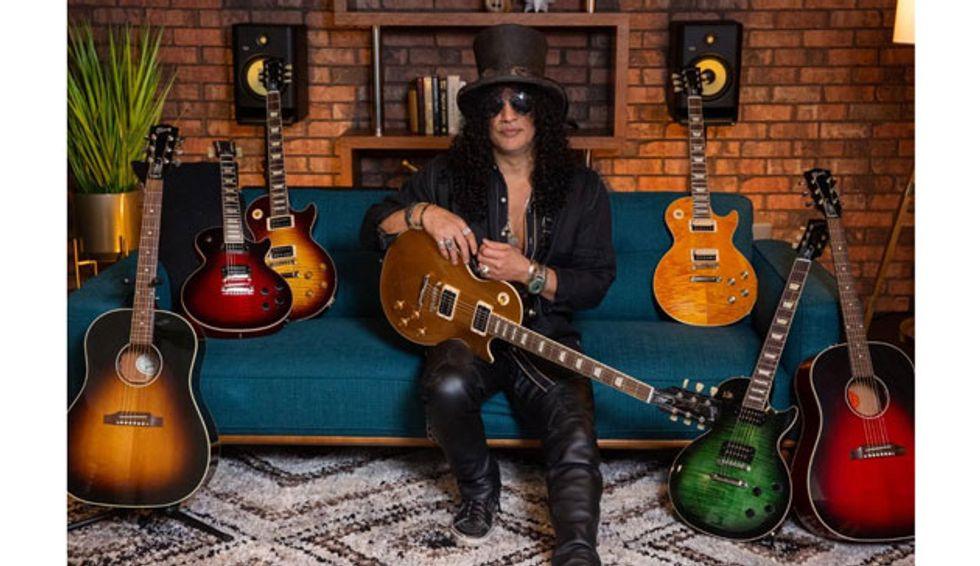 """Gibson Unveils the Slash """"Victoria"""" Les Paul Standard Goldtop"""