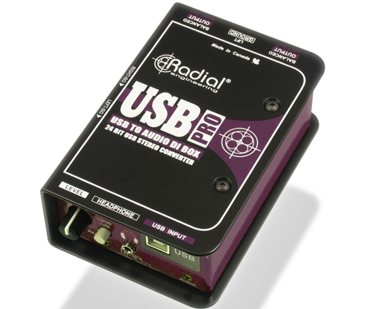 Radial Engineering Introduces the USB-Pro High-Resolution Stereo Direct Box