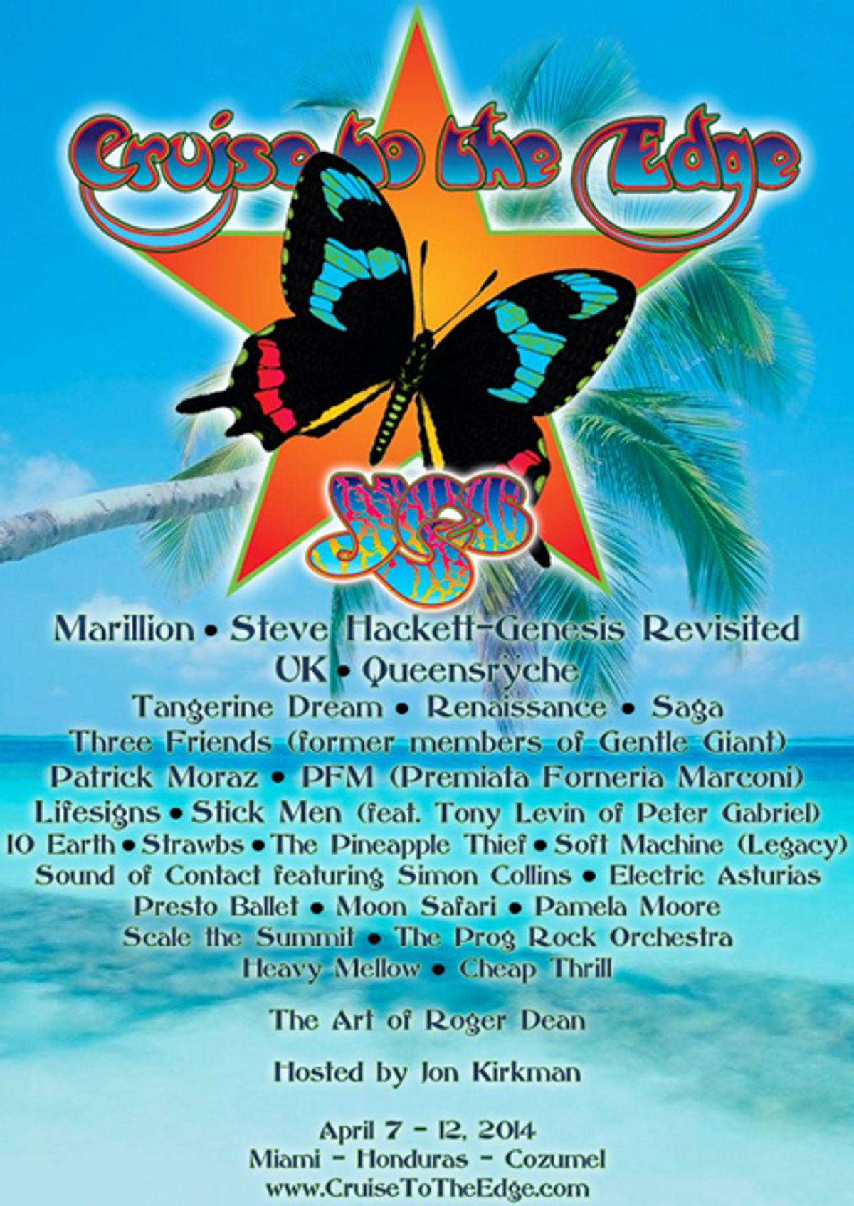 Yes and Marillion Announce Cruise to the Edge 2014