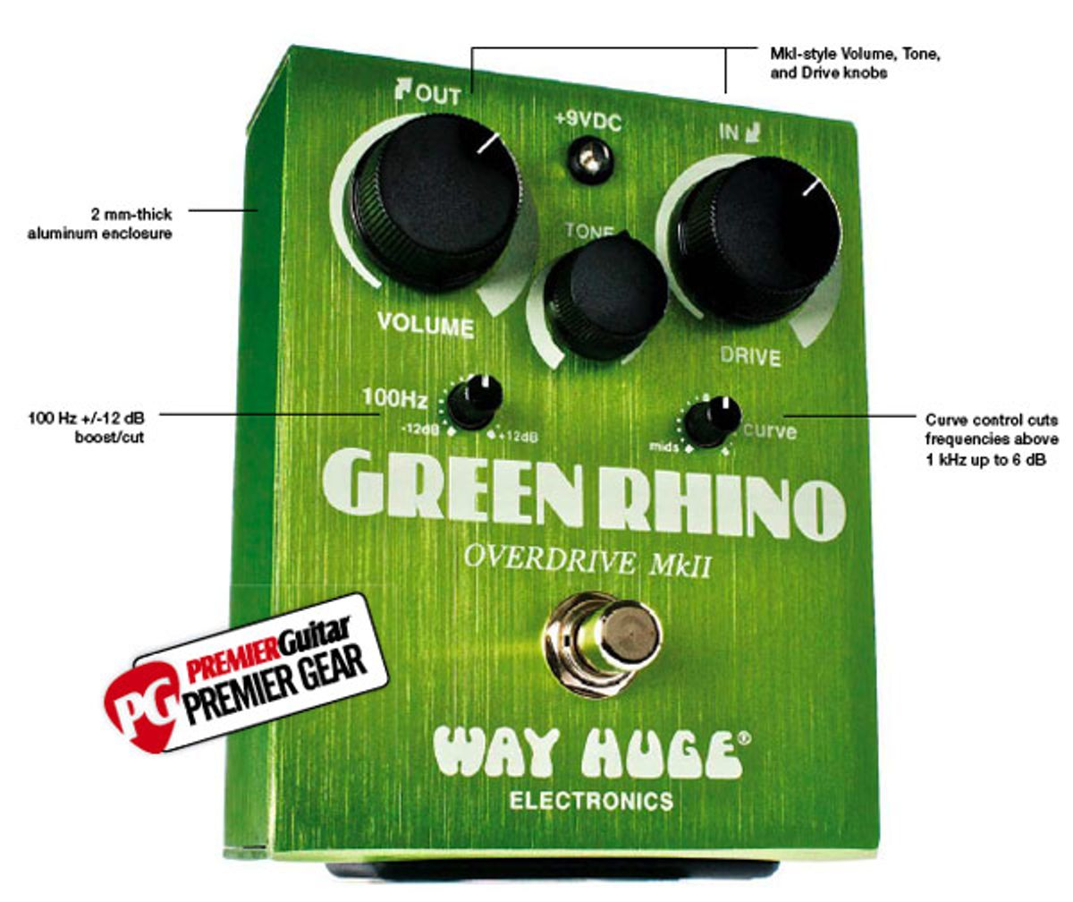 Way Huge Green Rhino MkII Overdrive Pedal Review