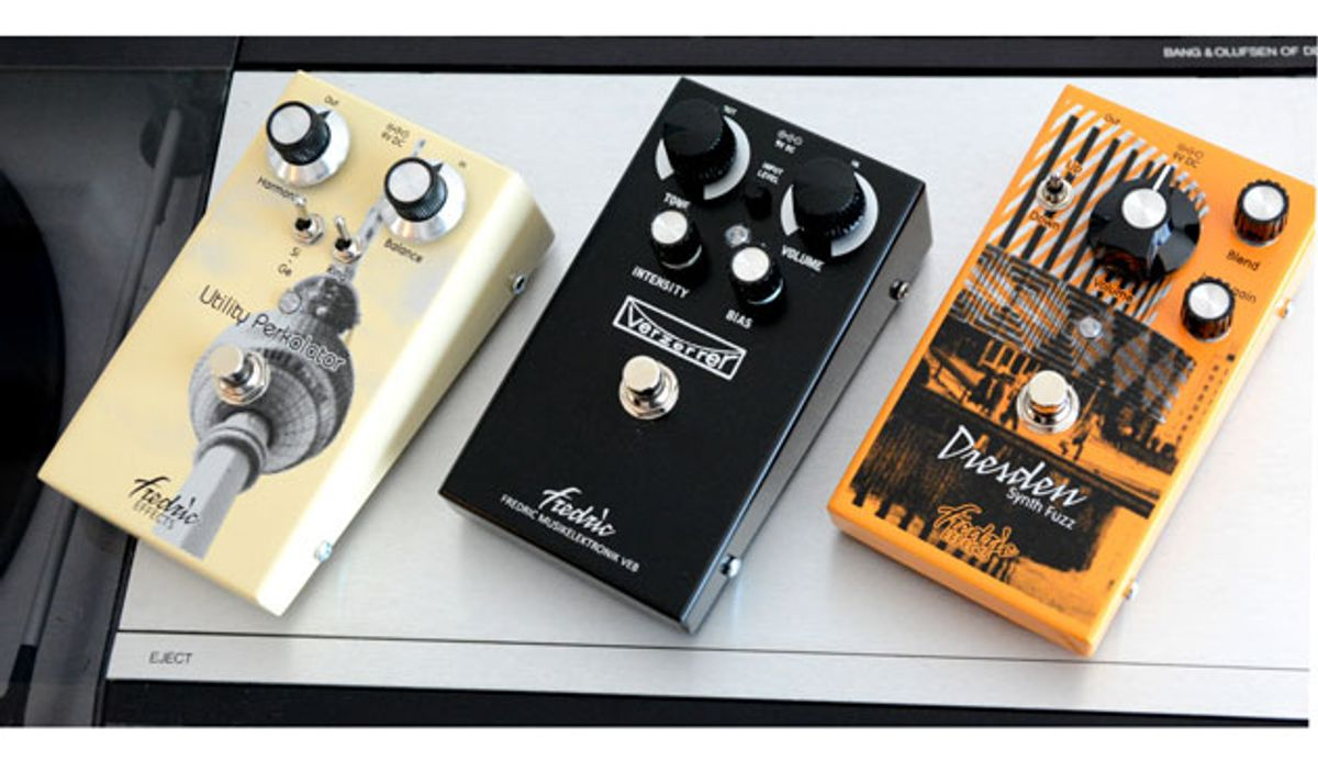 Fredric Effects Announces the Verzerrer, Utility Perkolator MkII, and Dresden Synth Fuzz MkII
