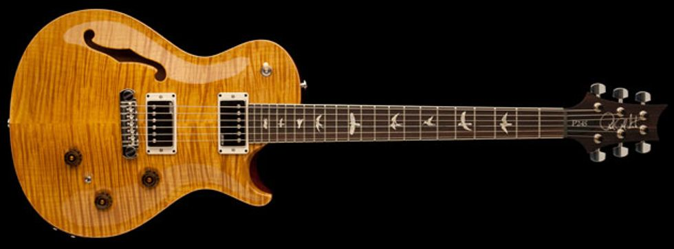 Stevensville MD June 8 2015 The Paul Reed Smith P245 Semi Hollow Is A Vintage Inspired Single Cutaway Guitar Designed For Players Who Prefer Shorter