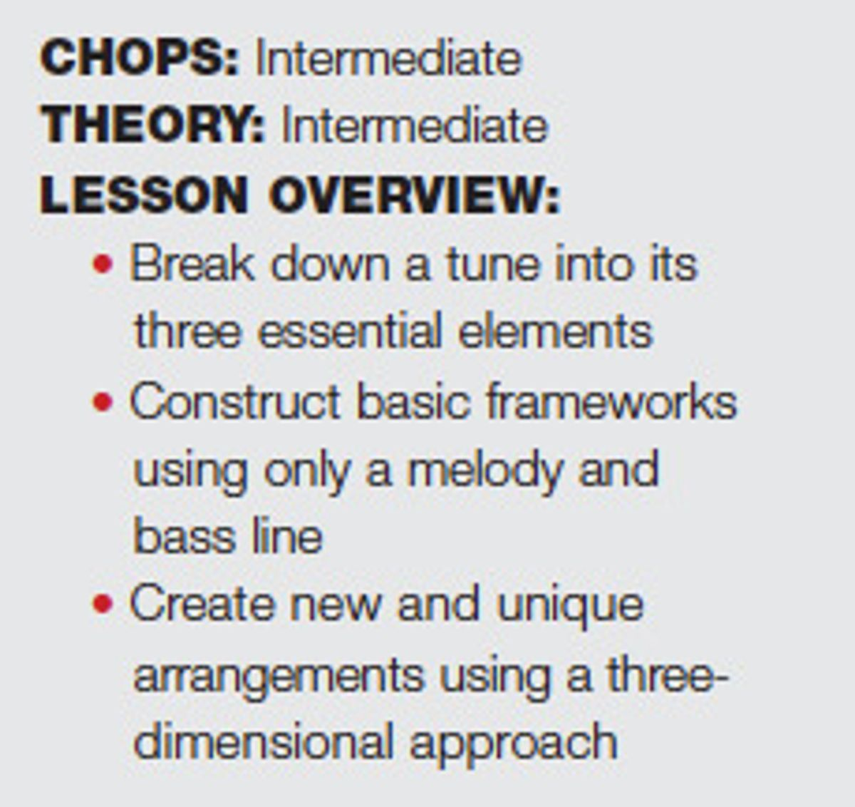 Digging Deeper: Learning Tunes in Three Dimensions