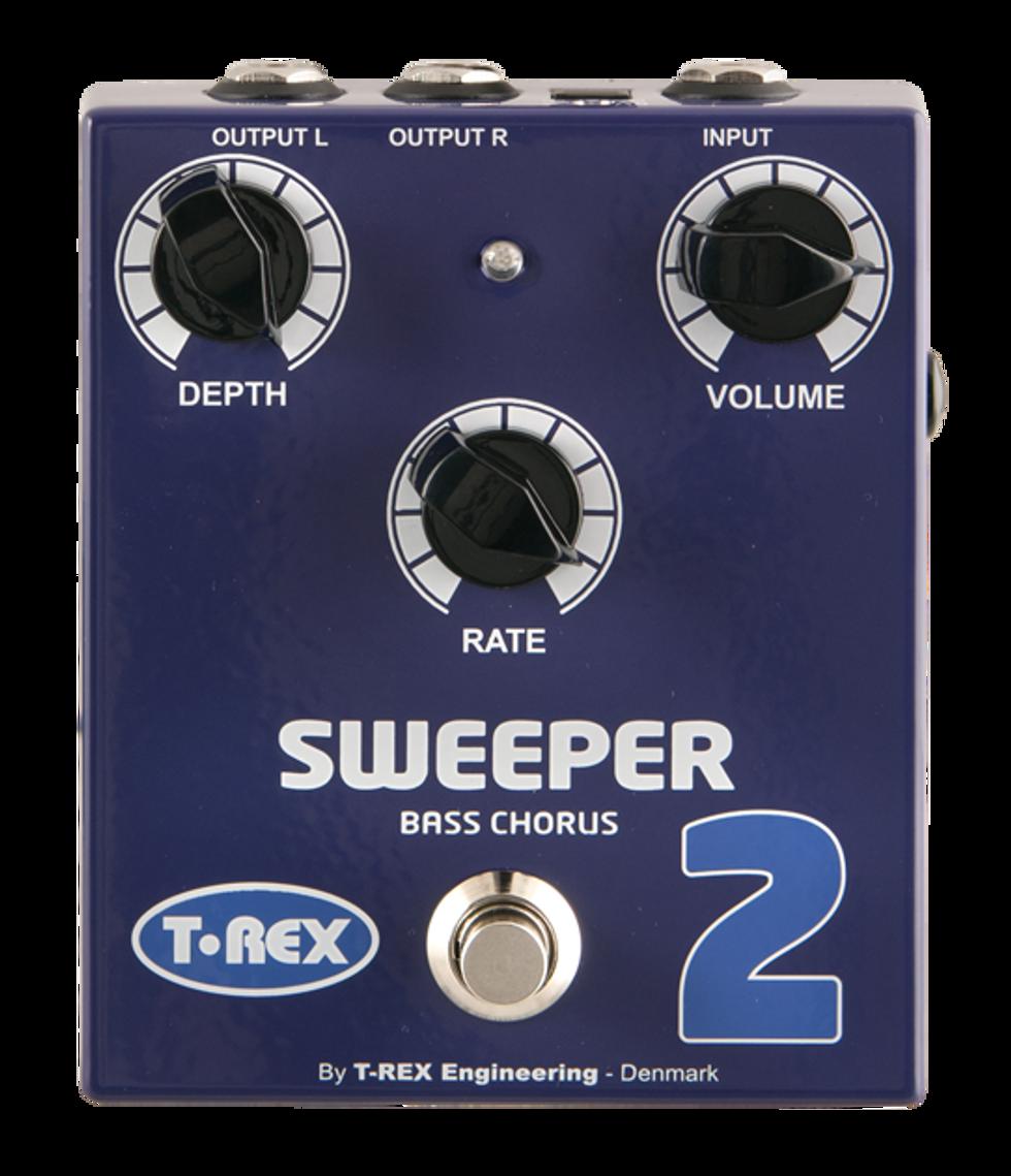 t rex sweeper 2 bass chorus pedal 2013 08 15 premier guitar. Black Bedroom Furniture Sets. Home Design Ideas