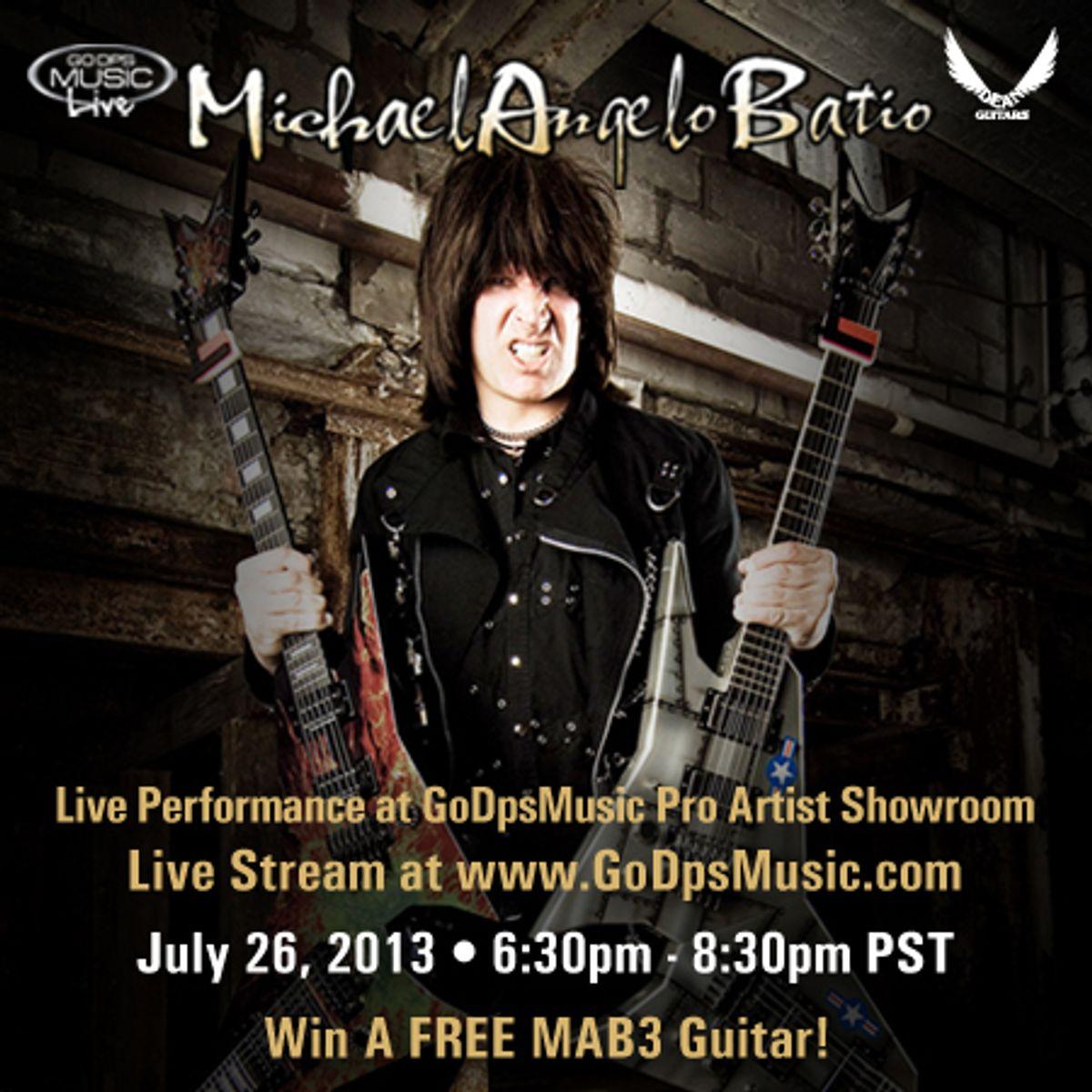 Michael Angelo Batio to Broadcast Live Guitar Clinic Tonight