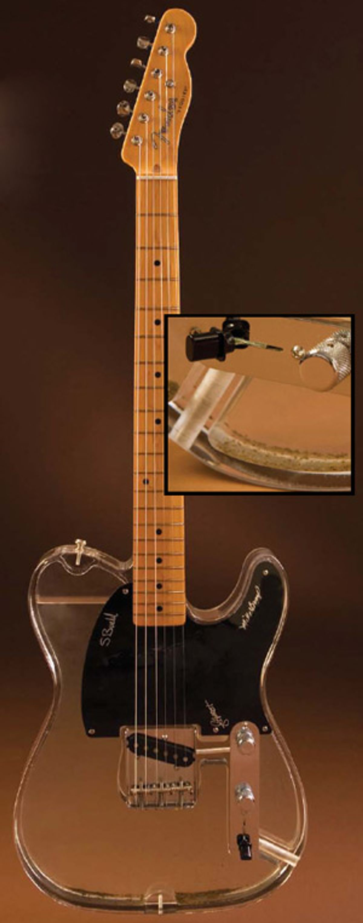 The Fender Cumberland River Floodwater Lucite Esquire