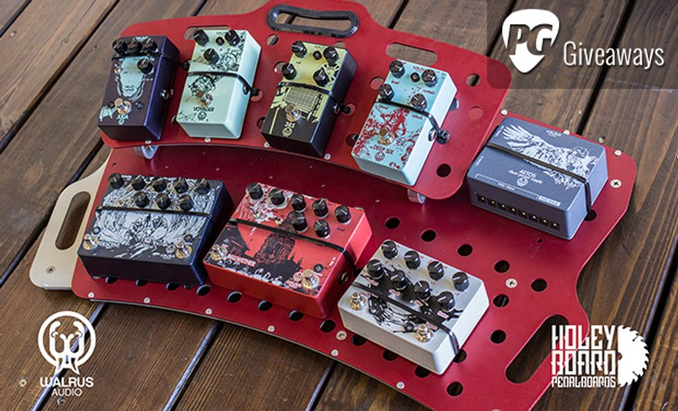 PG Giveaways: Loaded Pedalboard from Walrus Audio and Holeyboard Pedalboards