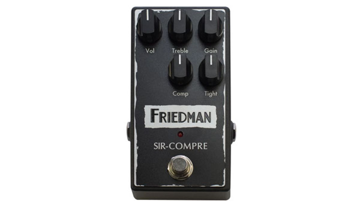 Friedman Amplification Launches the Sir-Compre Pedal