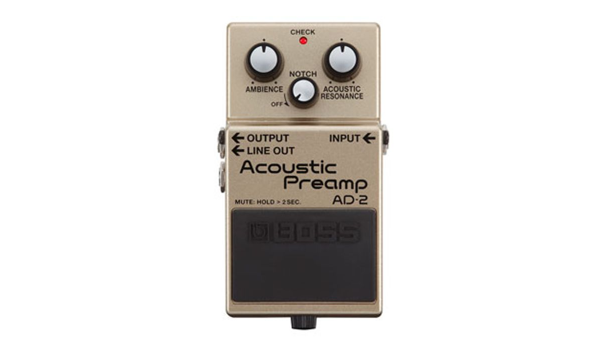 BOSS Announces the CP-1X Compressor Pedal and AD-2 Acoustic Preamp