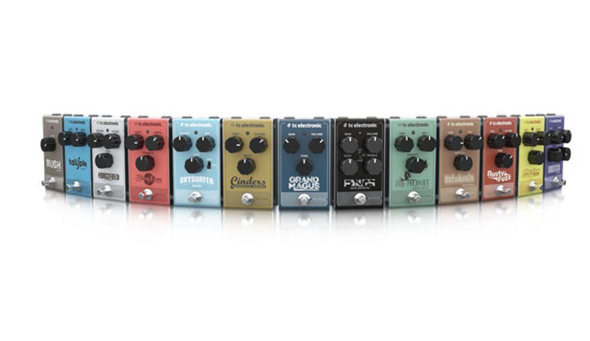 TC Electronic Announces 13 New Pedals