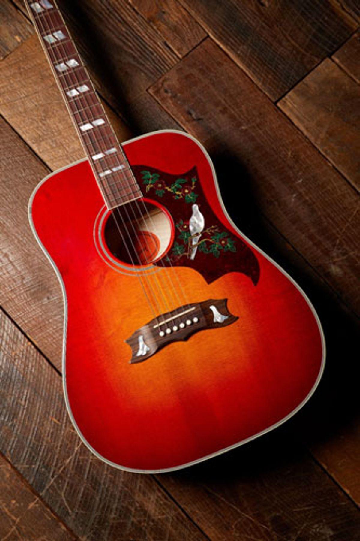 "Gibson Announces Frank Hannon ""Love Dove"" Acoustic Guitar"
