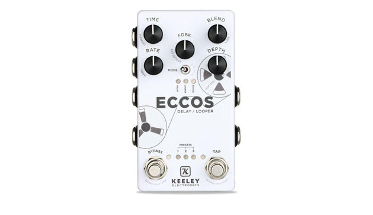 Keeley Electronics Releases the Eccos Delay/Looper