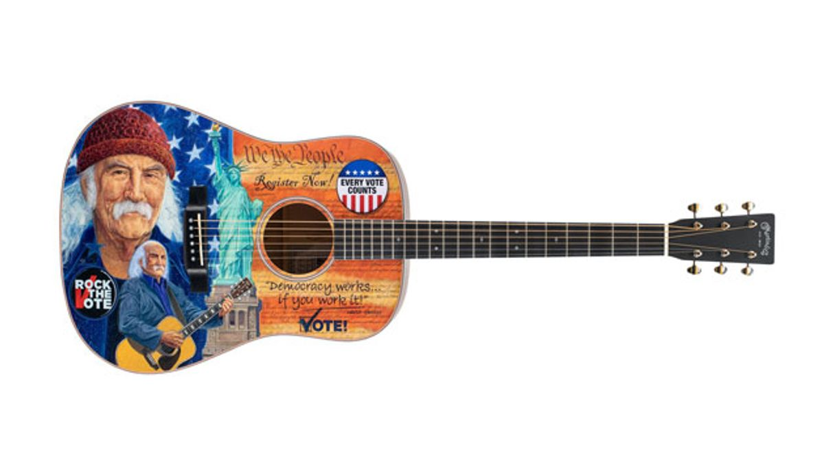 Martin Guitar Unveils the D-16E Rock the Vote Special Edition Model