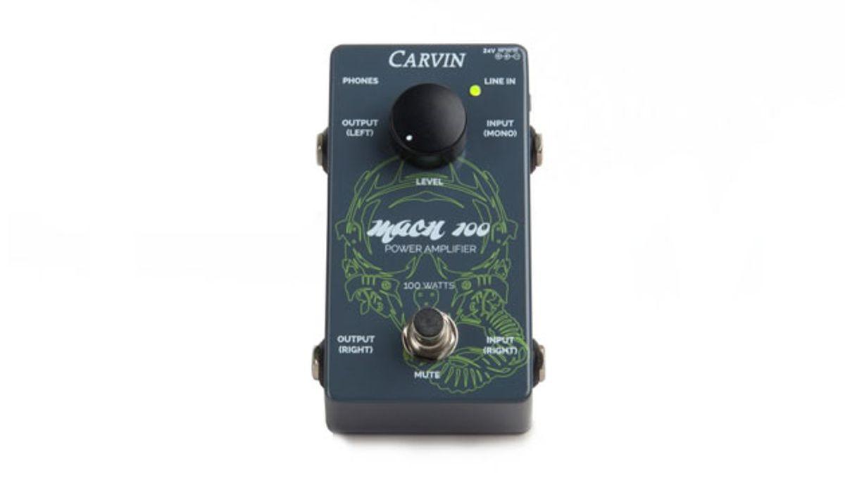 Carvin Amps Announces the New MACH100 100-watt Pedal Amplifier