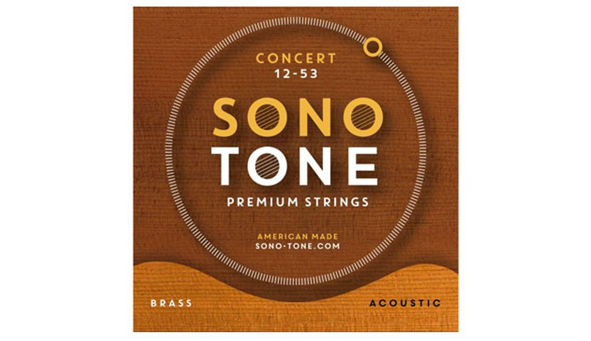 SonoTone Introduces Concert Series Premium Brass Acoustic Guitar Strings