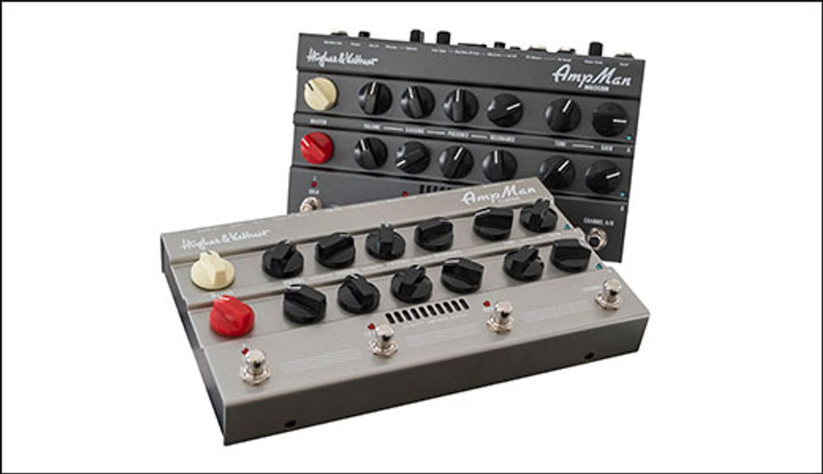Hughes & Kettner Launches Spirit AmpMan Series of Compact Pedal Amplifiers