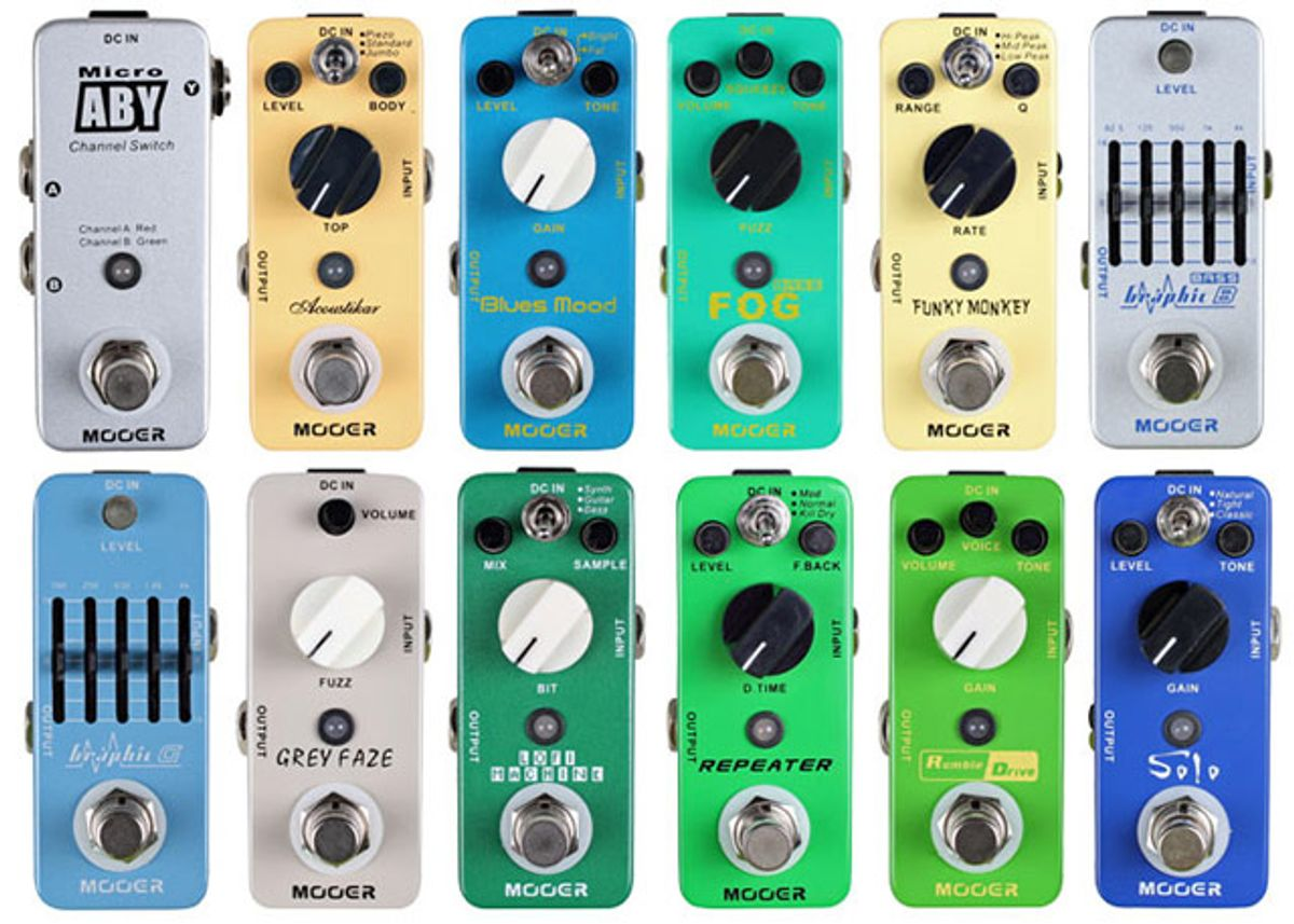 Osiamo Releases New Mooer Micro Effect Pedals in US