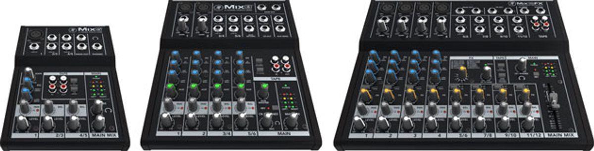 Mackie Unveils Mix Series Compact Mixers