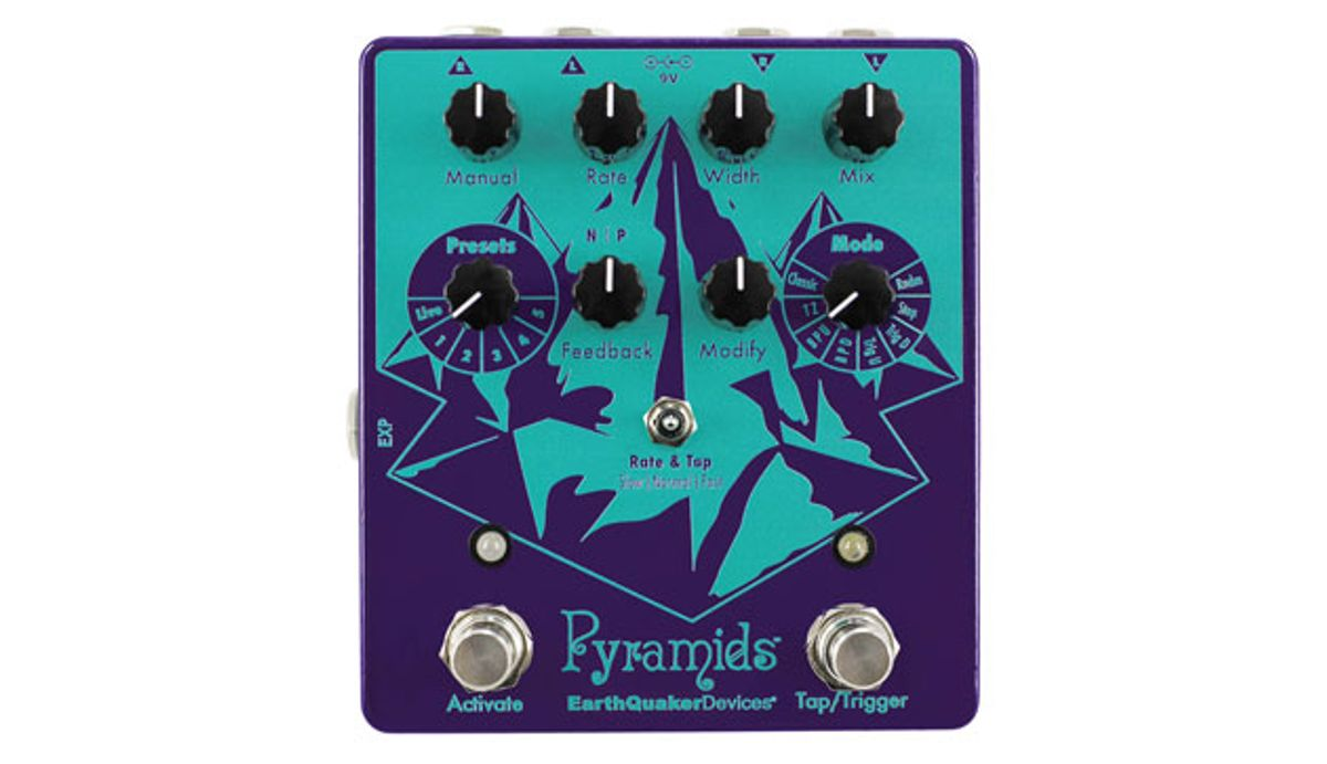 EarthQuaker Devices Releases the Pyramids Stereo Flanging Device