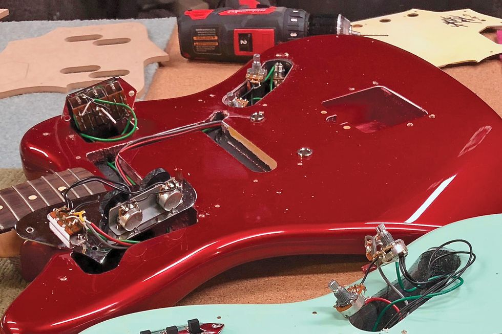 Wiring Diagram As Well Stratocaster Guitar Templates Printable In