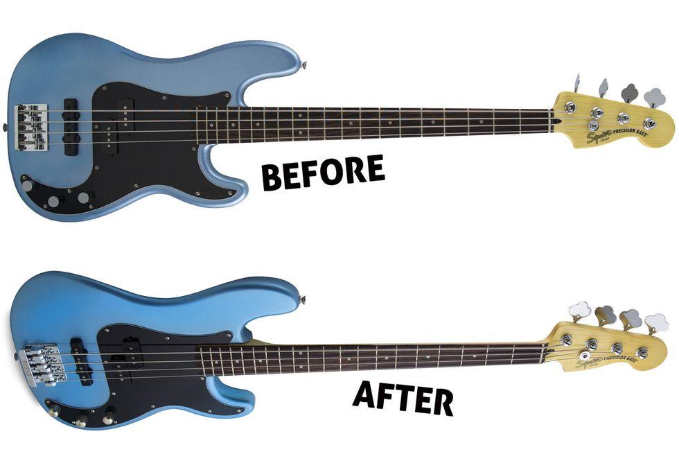 Diy No Brainer Mods Premier Guitar Vintage Stratocaster Wiring Diagram Free Picture Squier Modified Precision Bass Pj